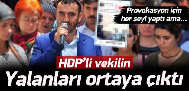 HDP'li vekilin Silopi yalanları