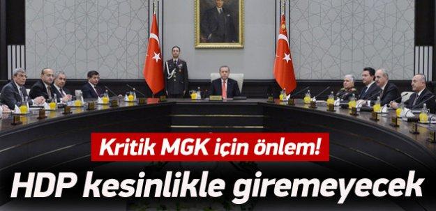 HDP MGK'ya giremeyecek!