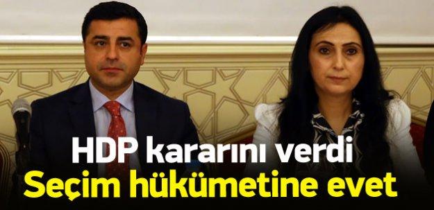 HDP: Seçim hükümetinde yer alacağız