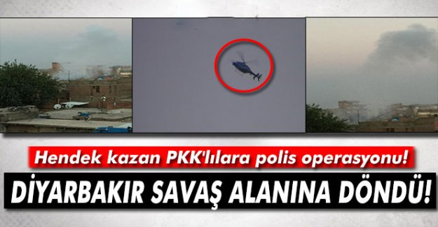 Hendek kazan PKK'lılara polis operasyonu!
