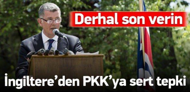 İngiltere'den şiddete sarılan PKK'ya sert çıkış