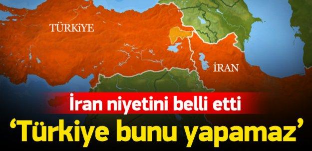 İran: Güvenli bölgeye karşıyız