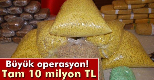 İstanbul'da 10 milyon liralık uyuşturucu ele geçirildi