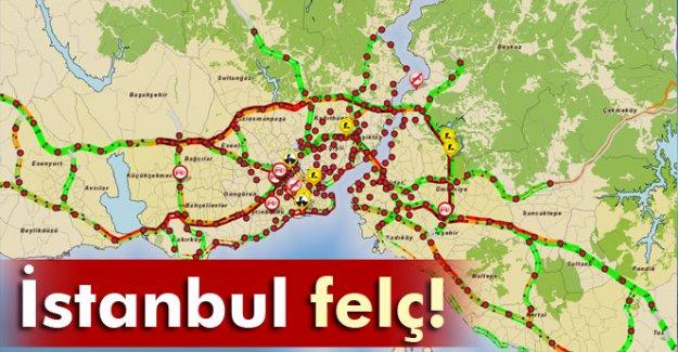 İstanbul felç oldu