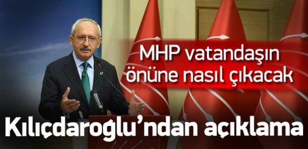 Kemal Kılıçdaroğlu PM öncesi açıklama yapıyor