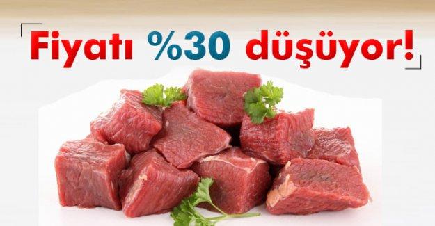 Kırmızı etin fiyatı %30 düşüyor!