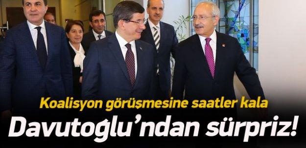 Koalisyon görüşmesi öncesi Davutoğlu'ndan sürpriz