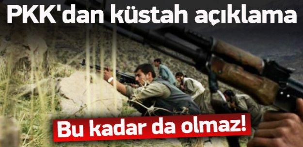 Küstah açıklama! PKK'ya göre eller tetiğe gitmemiş
