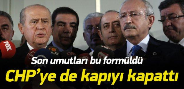 MHP CHP'ye kapıları kapattı