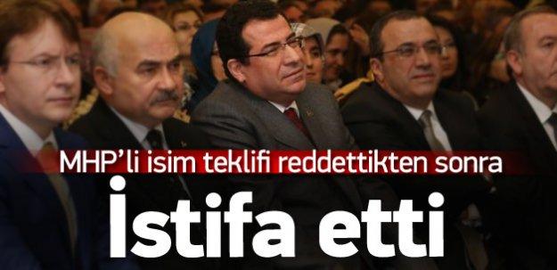 MHP'de Kenan Tanrıkulu istifa etti