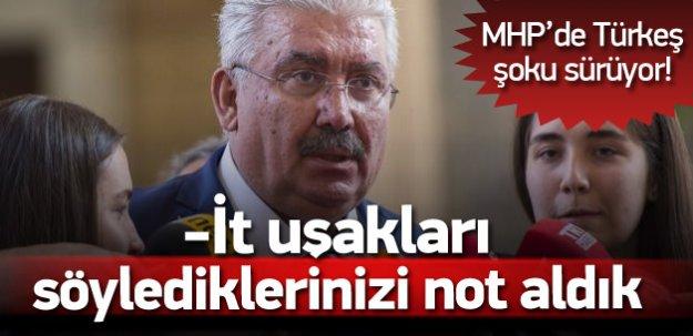 MHP'li Semih Yalçın'dan gazetecilere; İt uşakları