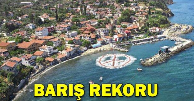 Mudanya'da 'Barış' rekoru
