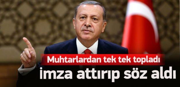 Muhtarlardan Erdoğan'a sigarayı bırakma sözü