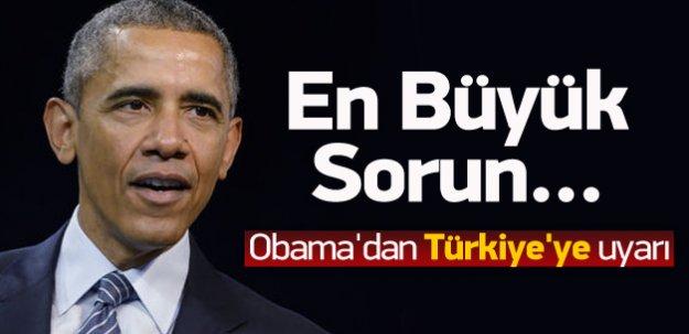 Obama'dan Türkiye'ye uyarı!