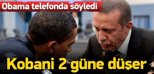 Obama, 'Kobani 2 günde düşer' dedi