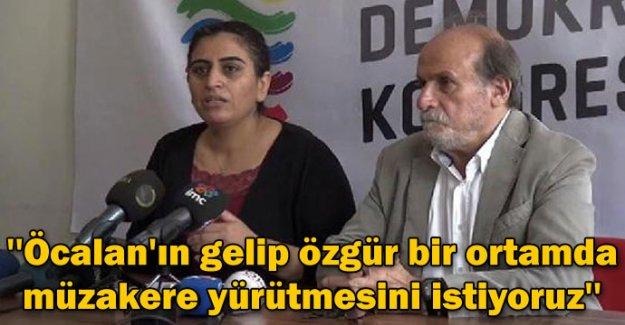 'Öcalan'ın gelip özgür bir ortamda müzakere yürütmesini istiyoruz'