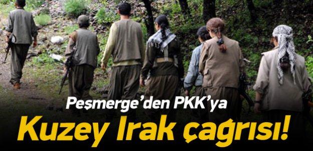 """Peşmergeden PKK'ya, """"Kuzey Irak'tan çekil"""" çağrısı"""