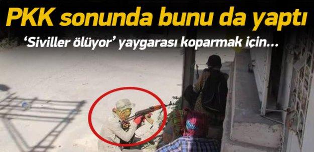 PKK çocukları polisin önüne sürdü!