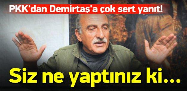 PKK'dan Demirtaş'a çok sert yanıt!