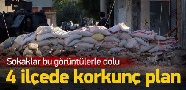 PKK'dan hendeklere bomba yığınağı