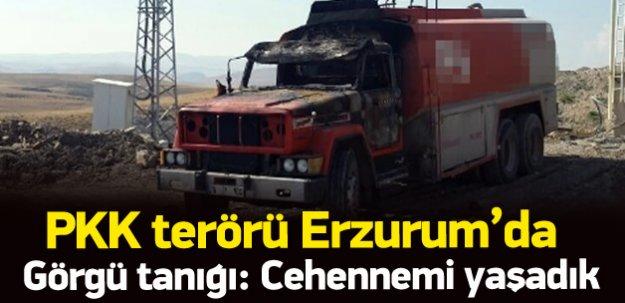 PKK Erzurum'da 17 iş makinesi yaktı