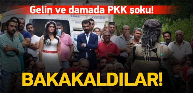 PKK, gelin ve damada propaganda yaptı