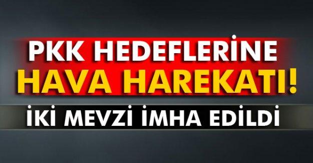 PKK hedeflerine hava harekatı düzenlendi