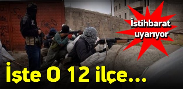 PKK'nın 12 ilçedeki hain planı