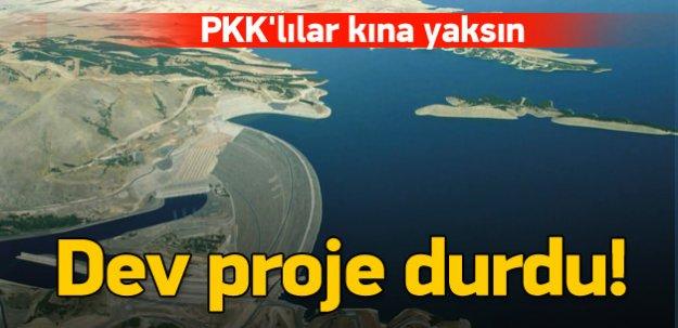 PKK'nın saldırıları dev projeyi durdurdu