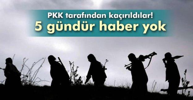 PKK tarafından kaçırıldılar! 5 gündür haber yok