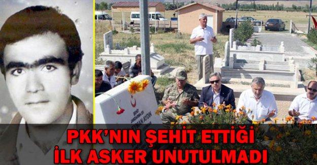 PKK teröründe şehit olan ilk asker anıldı