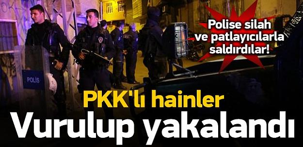 Polis 5 PKK'lıyı vurup yakaladı
