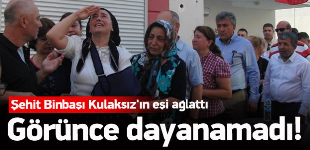 Şehit binbaşı Kulaksız'ın eşi ağlattı