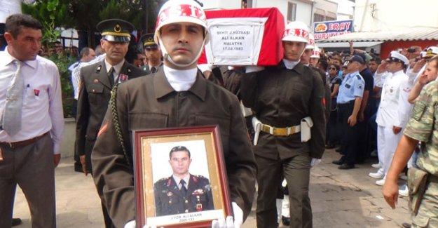 Şehit yüzbaşı Ali Alkan toprağa verildi