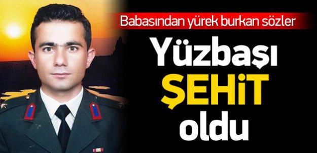 Şırnak'ta 1 yüzbaşı şehit oldu