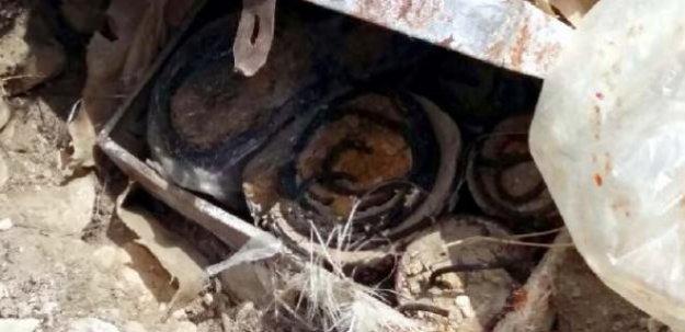 Sivas'ta 20 kilogram patlayıcı ele geçirildi