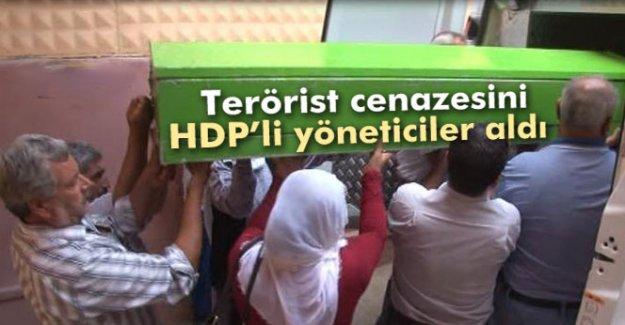 Teröristin cenazesini HDP'li yöneticiler aldı