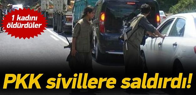 Teröristler sivil araca ateş açtı: 1 ölü