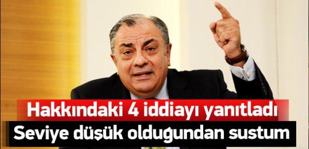 Tuğrul Türkeş'ten hakkındaki 4 iddiaya yanıt