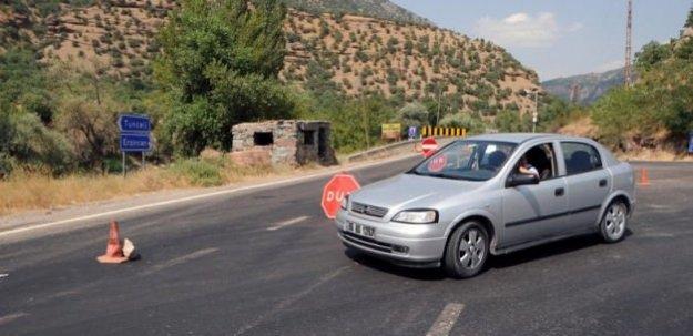 Tunceli-Erzincan karayolu tekrar kapatıldı