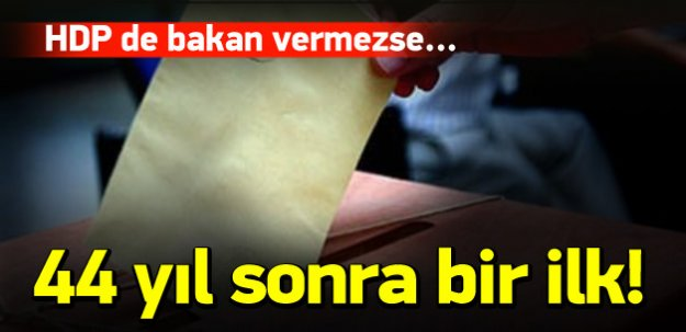 Türkiye'de 44 yıl sonra bir ilk!