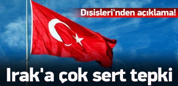 Türkiye'den Irak'a sert teki