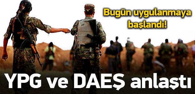 YPG ve DAEŞ anlaştı! Bugün uygulandı
