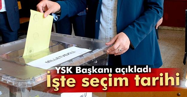 YSK kesin seçim tarihini açıkladı