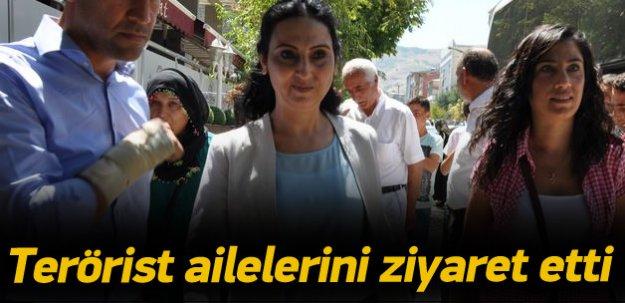 Yüksekdağ terörist ailelerini ziyaret etti
