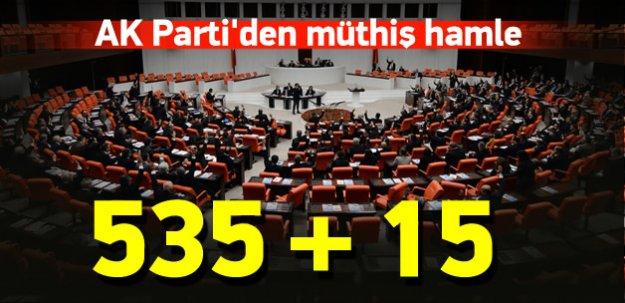 Yurtdışındaki seçmen için 15 milletvekili teklifi