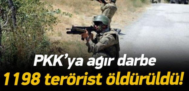 1198 terörist öldürüldü!