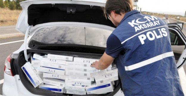 58 bin paket kaçak sigara ele geçirildi