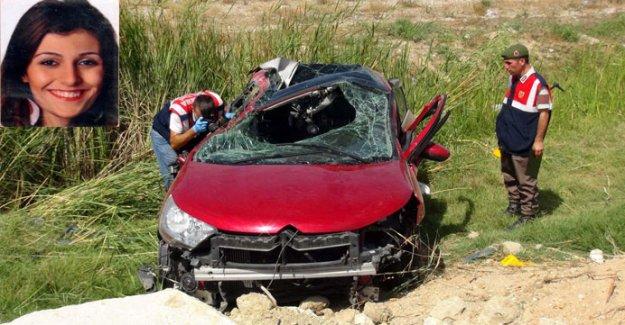8 aylık bebeğiyle kazada öldü