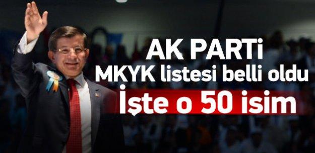 AK Parti'de MKYK listesi belli oldu